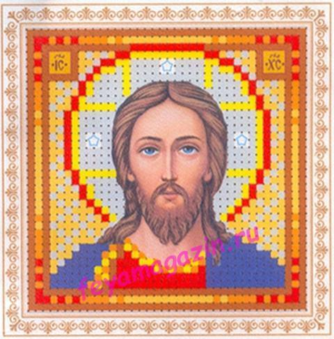 мини Образ Господь Вседержитель (ББ-049)  набор для вышивки бисеромна искусственном шелке/feyamagazin.ru