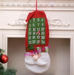 Тканевый адвент календарь «Дед Мороз»_1