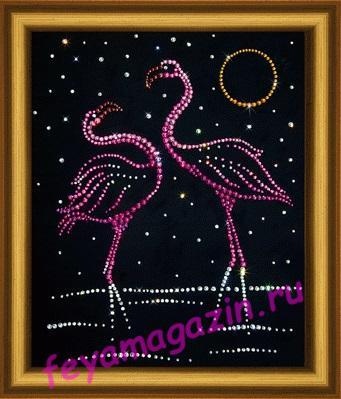 "КС-018 ""Фламинго"" Набор картина стразами"