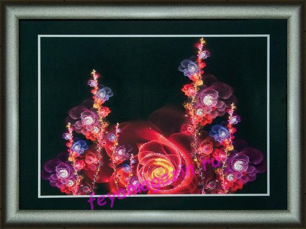 """Набор картина стразами Чарівна Мить КС-104 """"Волшебные цветы""""/feyamagazin.ru"""