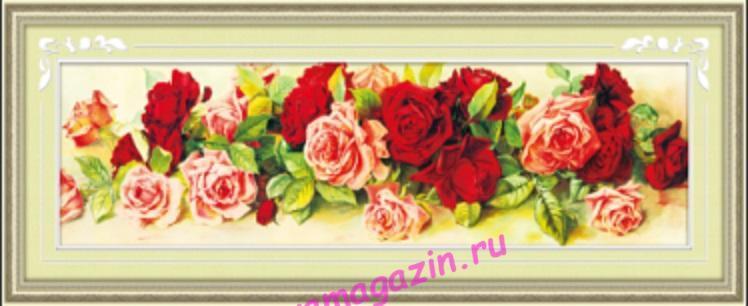 АЛМ А6131-1 Розы 100*30 полная выкладка/feyamagazin.ru