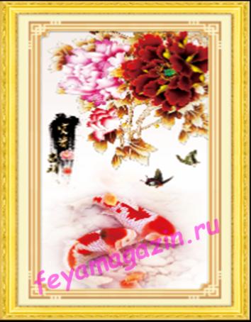 """АЛМ А6133-1 """"Богатство и удача"""" 40*80 полная выкладка кристаллами/feyamagazin.ru"""