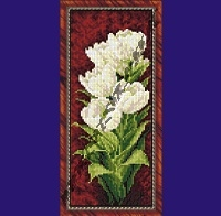 Белые тюльпаны(набор для вышивания крестом)