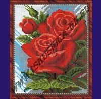 Красные розы (набор для вышивания крестом)
