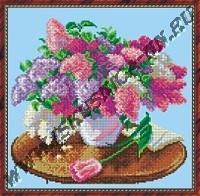Сирень в вазе(набор для вышивания крестом)