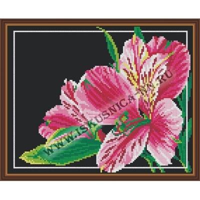 Розовый цветок (набор для вышивания крестом)