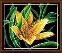 Желтый цветок (набор для вышивания крестом)