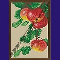 Спелые яблоки (набор для вышивания крестом)