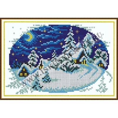 Деревня зимой (набор для вышивания крестом)