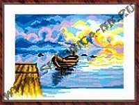 Лодка (набор для вышивания крестом)