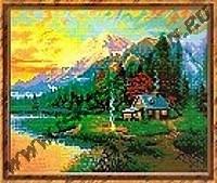 Домик в горах (набор для вышивания крестом)