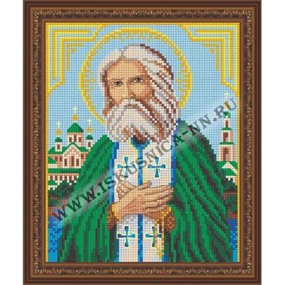 """Образ """"Серафим Саровский"""" (набор для вышивания крестом) 18х22 см/feyamagazin.ru"""