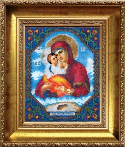 Наборы для вышивания бисером Б-1006 икона БМ Почаевская 17,2*21,6
