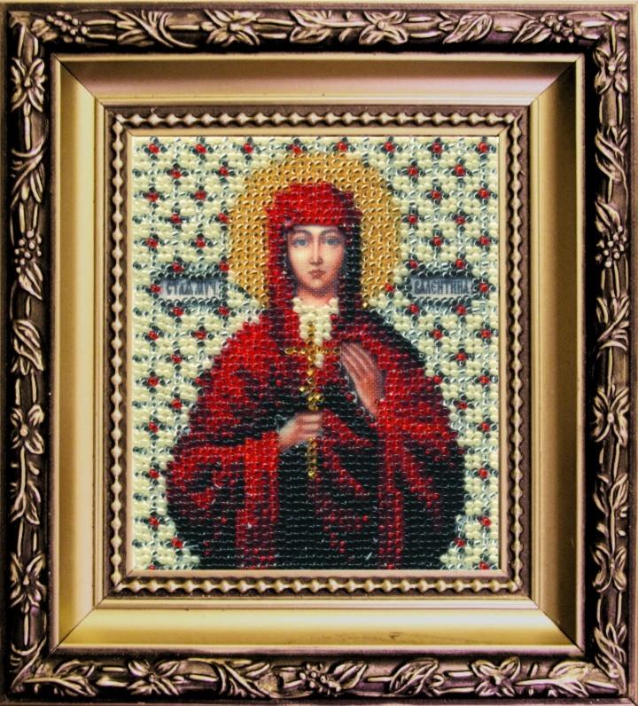 Наборы для вышивания бисером Б-1016 икона св. муч. Валентина 11*9