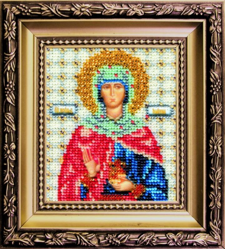 Наборы для вышивания бисером Б-1122 икона 11*9 Св. праведной Иоанны (Жанны, Яны)