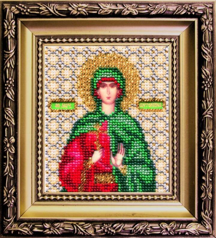 Наборы для вышивания бисером Б-1123 икона 11*9 Св. Антонины