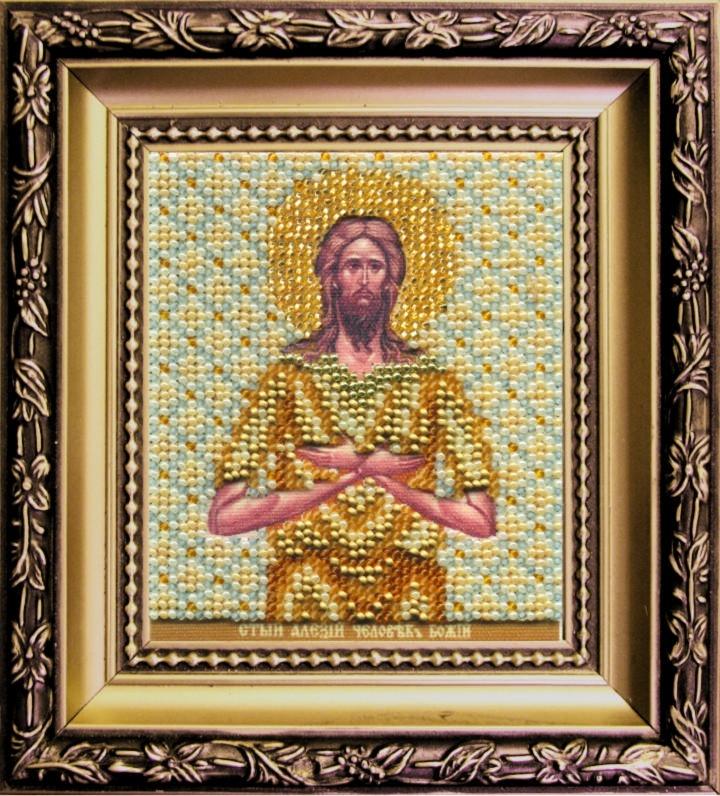 Наборы для вышивания бисером Б-1149 икона 11*9 Св. Алексия человека Божьего