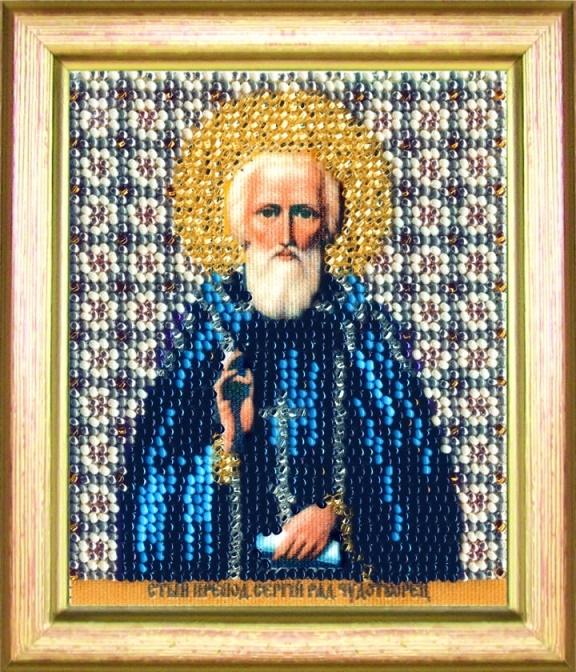 Наборы для вышивания бисером Б-1154 икона 11*9 Св. препод Сергия Радонежского
