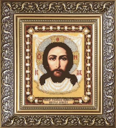 Наборы для вышивания бисером Б-1155 икона Образ господа Нашего Иисуса Христа 18*22