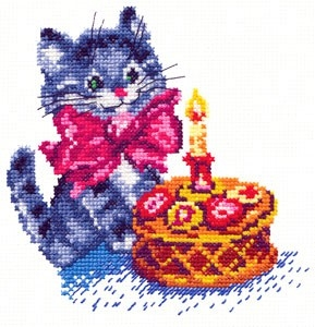 Чудесная игла 13-08 День рождения 14*14/feyamagazin.ru