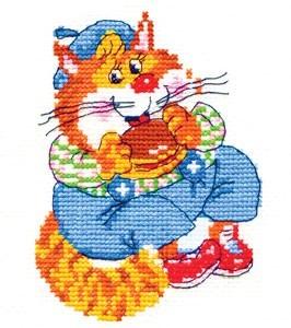 Чудесная игла 15-09 Котик круглый животик 10*12