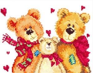 Чудесная игла 17-06 Три медведя 18*16