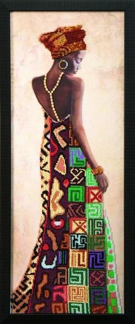 Наборы для вышивания бисером Африканская принцесса Б-703 (20*54)