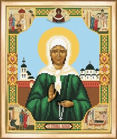 Схема для вышивания бисером Икона Святая Блаженная Матрона Московская