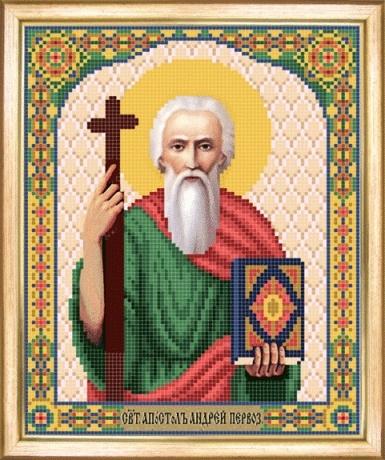 Схема для вышивания бисером Икона апостол Андрей Первозванный