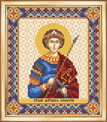 Схема для вышивания бисером Именная икона Георгий (Юрий, Егор)
