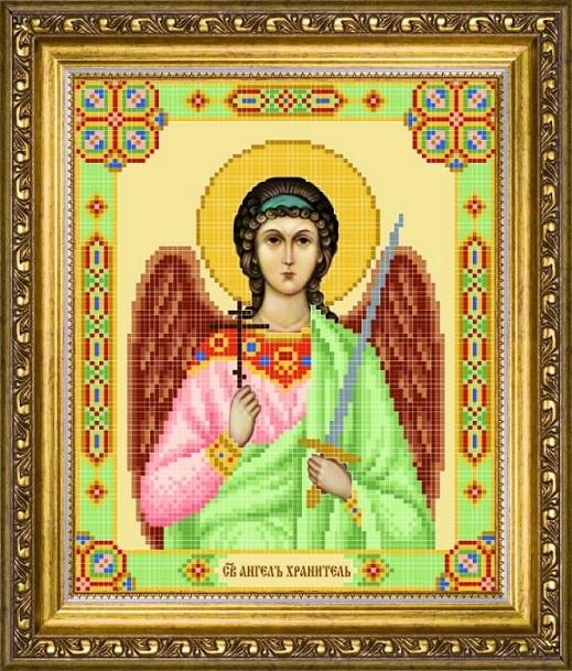 Схема для вышивания бисером Икона Ангел Хранитель СБИ-1001
