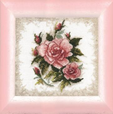 """Набор для вышивания крестом """"Чаривна Мить""""А № 012 две розы 17,5*17"""