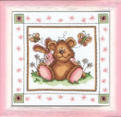 """Набор для вышивания крестом """"Чаривна Мить""""А № 029 Мишка 19*19"""